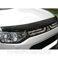 Мухобойка (дефлектор капота) на Mitsubishi Outlander/митсубиши аутлендер 2012-