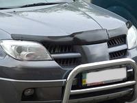 Мухобойка (дефлектор капота) на Mitsubishi Outlander/митсубиши аутлендер 2000-2006, фото 1