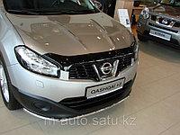 Мухобойка\дефлектор капота на Nissan Qashqai /Ниссан Кашкай 2010-2013, фото 1