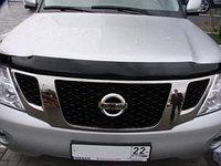 Мухобойка\дефлектор капота на Nissan Patrol/Ниссан Патрол 2010-