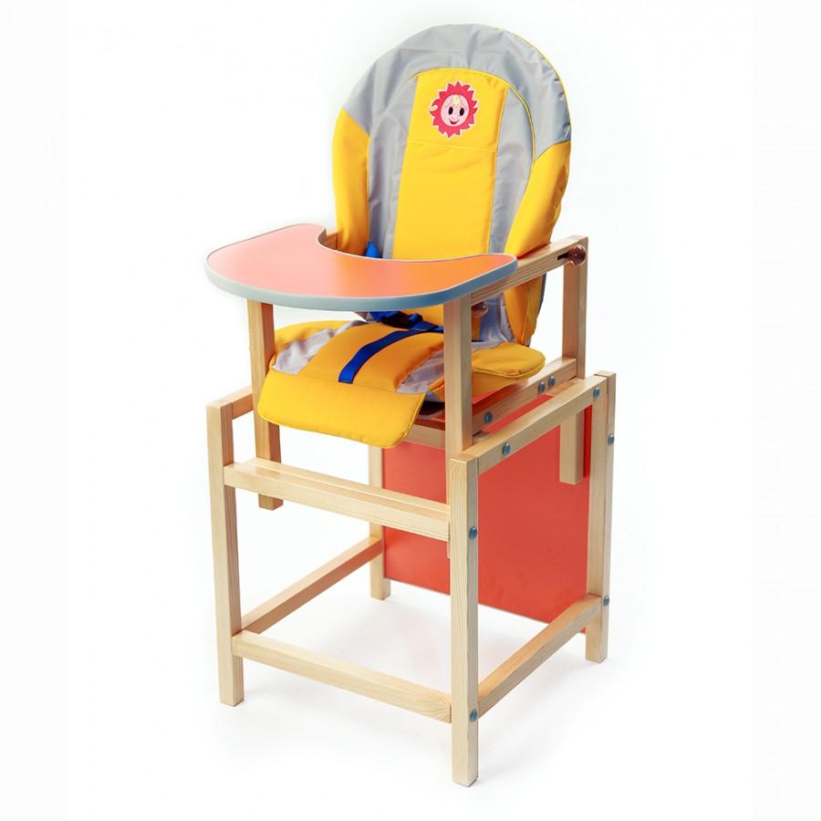 """Стол-стул для кормления """"Солнышко"""", состав - массив сосны"""