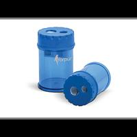 Точилка пластиковая Forpus, двойная, с контейнером, синий