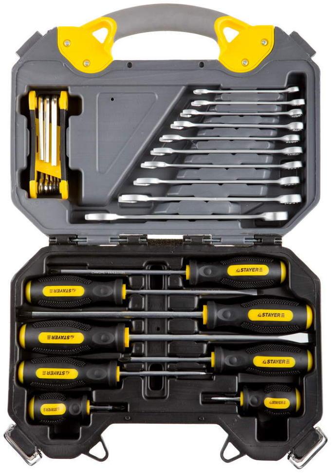 """(27710-H26) Набор инструментов STAYER """"PROFI"""" универсальный, высококачественная CRV сталь, 26 предметов"""
