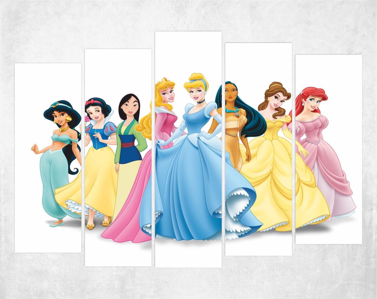 Модульная картина - Принцессы Disney