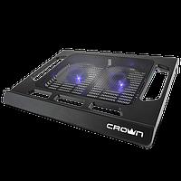 "Подставка под ноутбук охлаждающая Crown micro CMLS-937. Диагональ до 12""-15.6"". Два вентилятора."