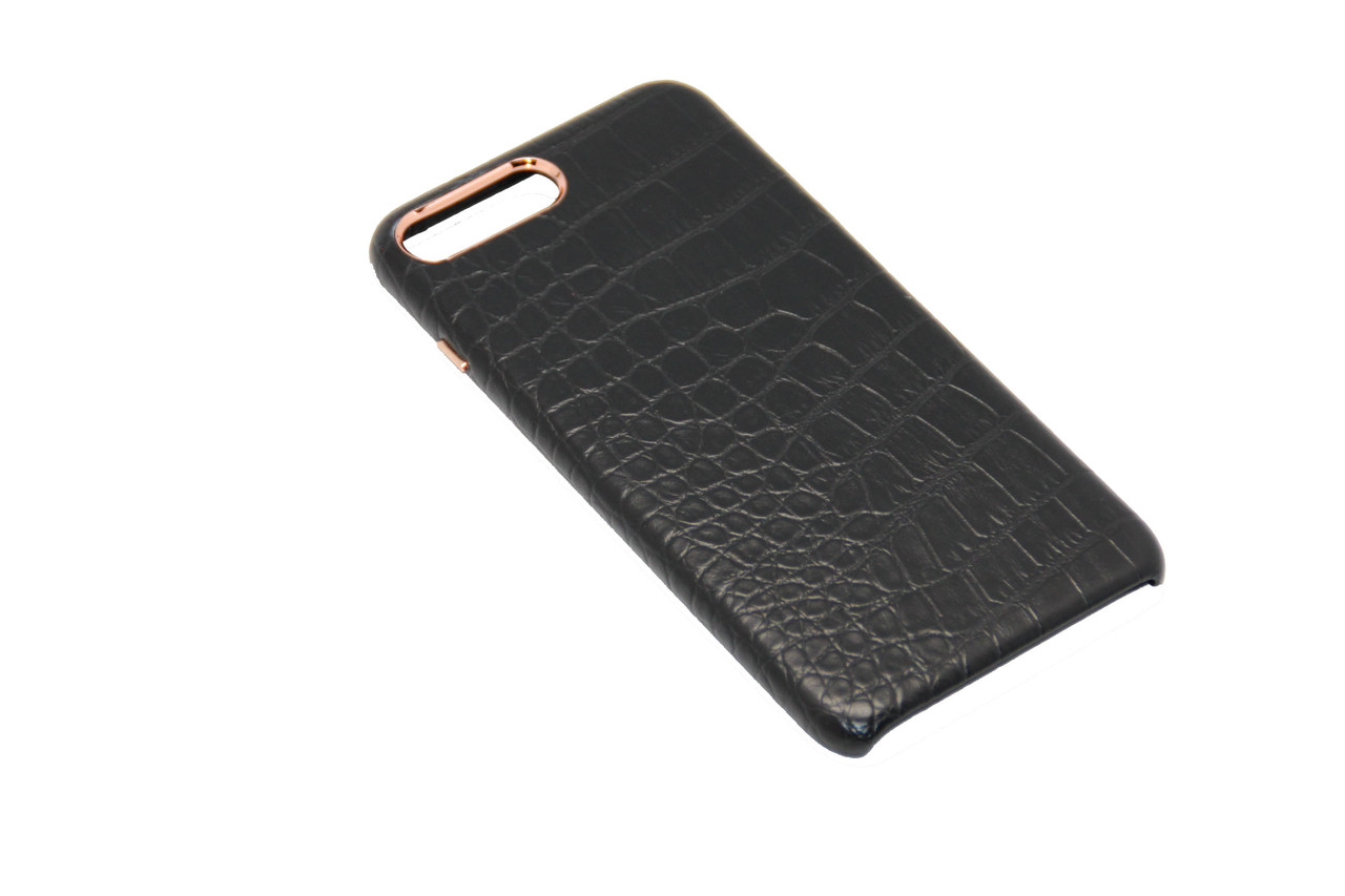 Чехол OCCA Croco Black кожаный iPhone 7 Plus