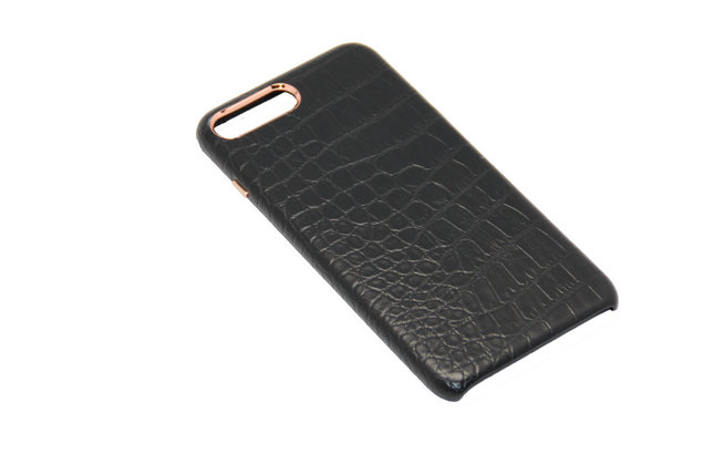 Чехол OCCA Croco Black кожаный iPhone 7 Plus, фото 2