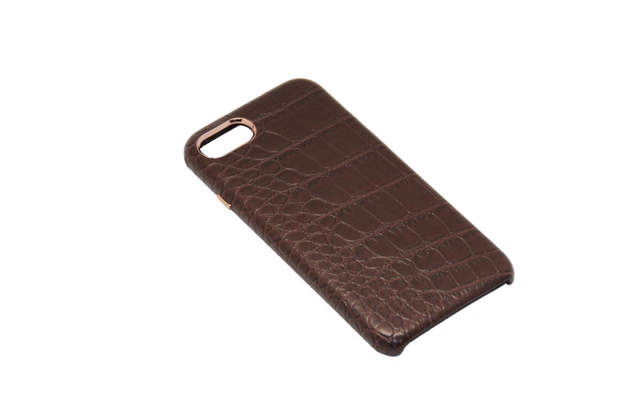 Чехол OCCA Croco Brown кожаный iPhone 7 Plus