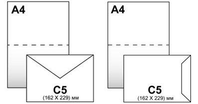 Конверты С-5 162*229,белый 80гр, отрывная лента, клапан по короткой стороне