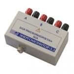 Блок трансформаторов тока - с номинальным входным током 0,5А, 5А или 50А