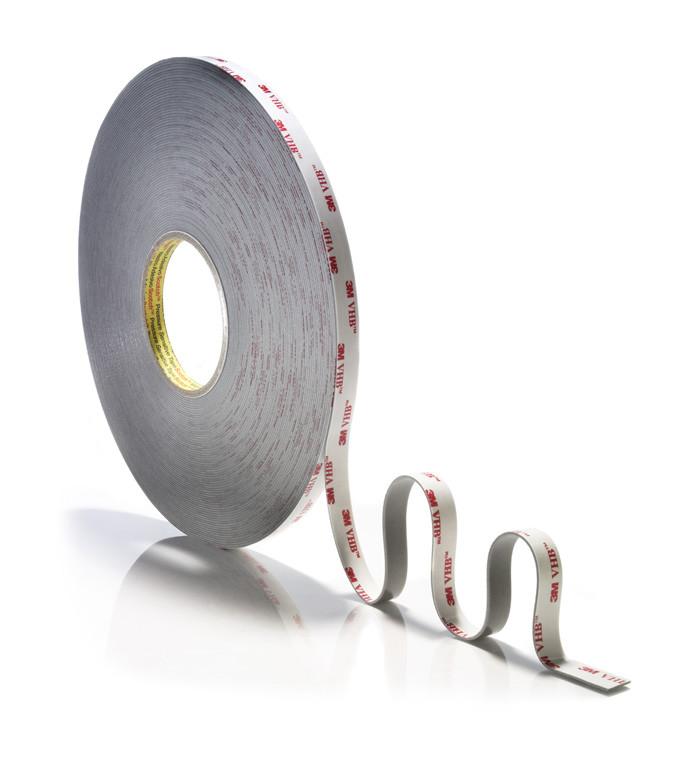 Серый двухсторонний скотч 3M™ VHB RP45 (1,1мм) 6ммХ33м