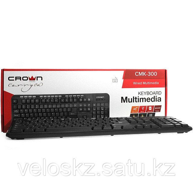 Клавиатура проводная Crown CMK-300 каз/рус/англ USB