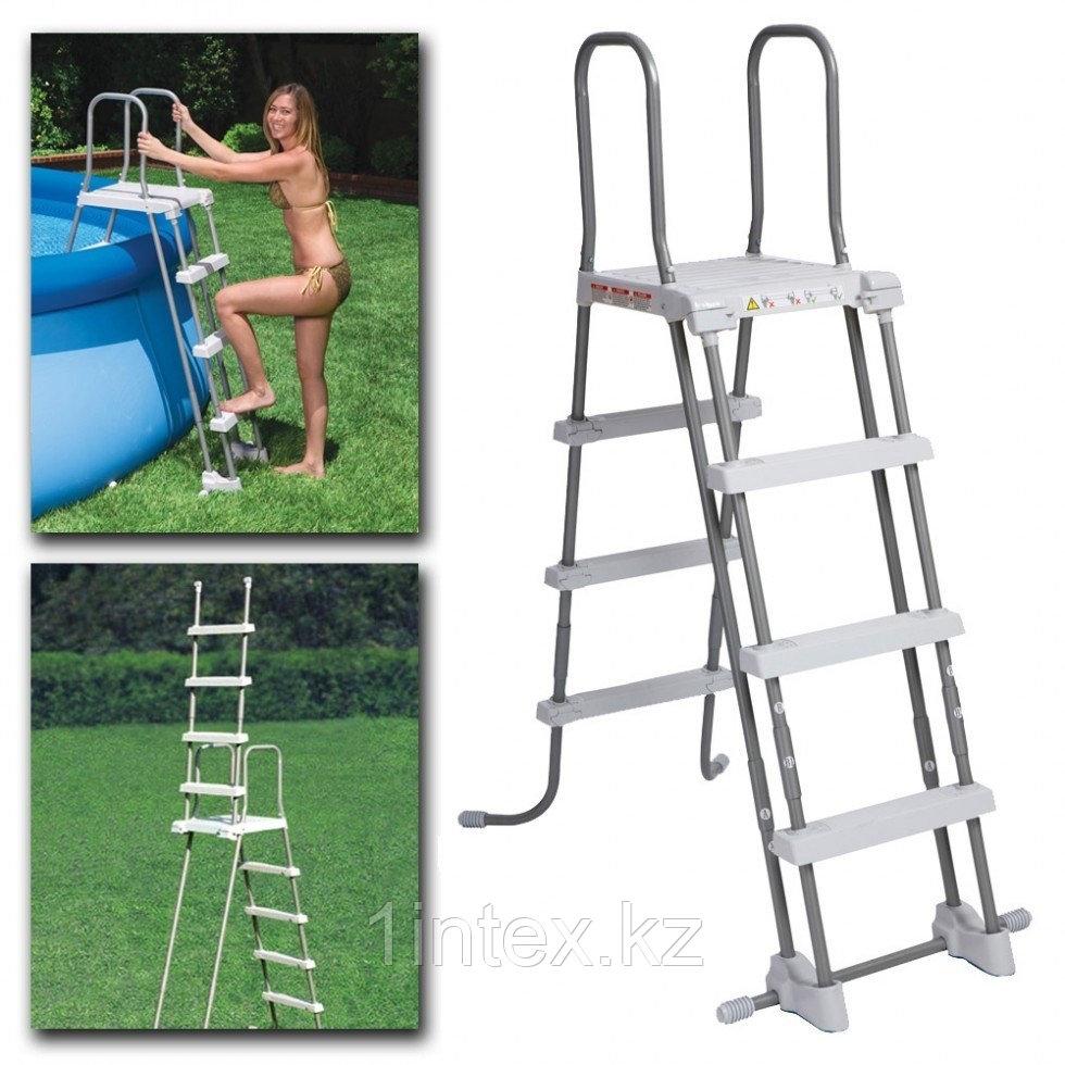 Лестница для бассейна Intex с площадкой (122см)
