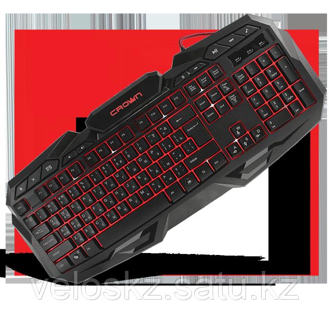 Клавиатура игровая Crown CMKG-100, с подсветкой