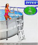 Лестница для бассейнов 132см Intex, фото 7