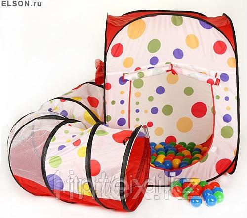 Домики - палатки Calida Дом + 100 шаров (квадрат + туннель)