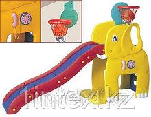 """Горка """"Слон"""" с баскетбольным кольцом"""