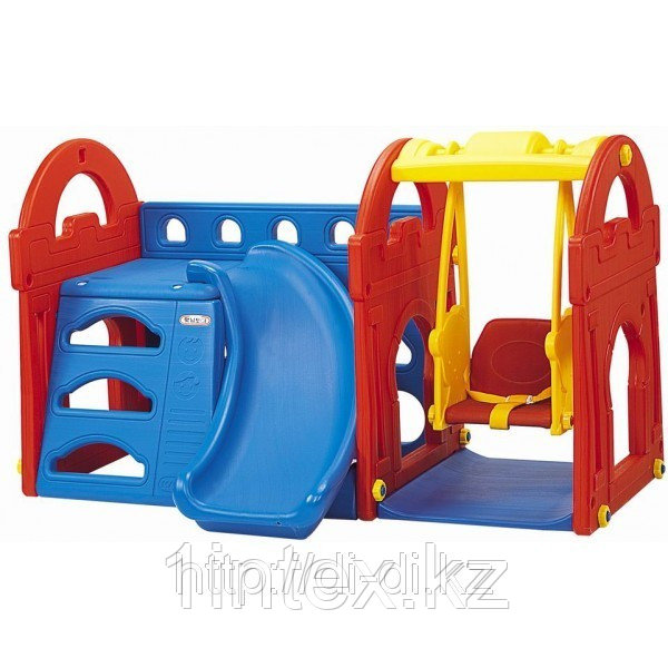 Игровой центр с горкой и качели Haenim toys