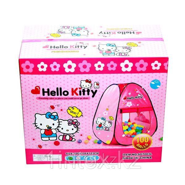 """Палатка большая в коробке """"HELLO KITTY"""", в комплекте 100шт шариков"""