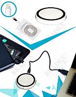 Аккумулятор беспроводной круглый для смартфонов с Lightning разъемом, белый