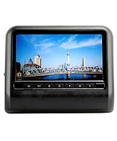 """Навесной монитор на подголовник с диагональю 9"""" и встроенным DVD плеером TRINITY X-9F (Черный), фото 1"""