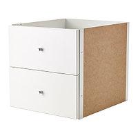 Вставка с 2 ящиками КАЛЛАКС белый ИКЕА, IKEA