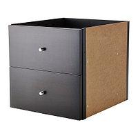 Вставка с 2 ящиками КАЛЛАКС черно-коричневый ИКЕА, IKEA