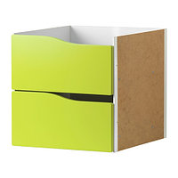 Вставка с 2 ящиками КАЛЛАКС светло-зеленый ИКЕА, IKEA, фото 1