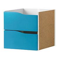 Вставка с 2 ящиками КАЛЛАКС бирюзовый ИКЕА, IKEA, фото 1
