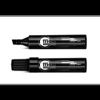 Маркер перманентный круглый 1-Маркер перманентный скошенный Jumbo 1-8мм, черный, черный