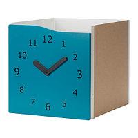 Вставка с дверцей КАЛЛАКС бирюзовый декоративные часы ИКЕА, IKEA