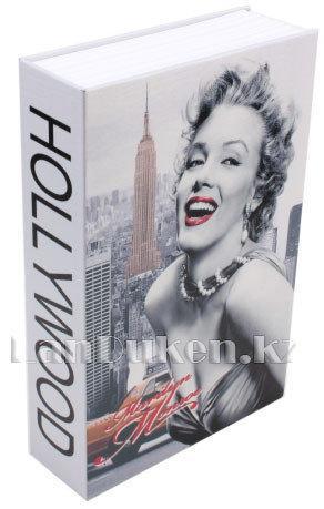 Книга сейф шкатулка с ключом Marilyn Monroe 265* 200* 65 см (большая) - фото 1