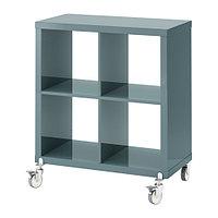Стеллаж на колесиках КАЛЛАКС глянцевый серо-бирюзовый ИКЕА, IKEA