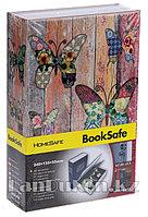 Книга сейф шкатулка с ключом Бабочки 240* 155* 55 см (средняя)
