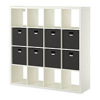 Стеллаж с 8 вставками КАЛЛАКС белый ИКЕА, IKEA