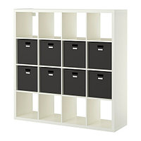 Стеллаж с 8 вставками КАЛЛАКС белый ИКЕА, IKEA, фото 1