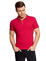 Поло-футболка мужская красная