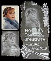 Гравировка портрета на зеленом граните Алатагыл 01