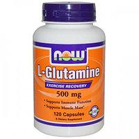 Now Foods, L-Глутамин, 500 мг, 120 капсул.