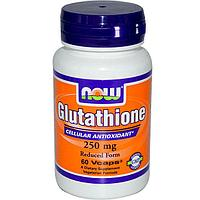 Now Foods, Глутатион, 250 мг, 60  капсул.