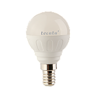 Светодиодная лампа ТМ Tecata Е14 6Вт 5000К шарик матовый