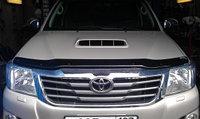Мухобойка (дефлектор капота) наToyota Hilux/Тойота Хайлюкс 2011-, фото 1
