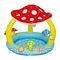 Надувной детский бассейн Intex «Мухомор» с навесом, фото 2