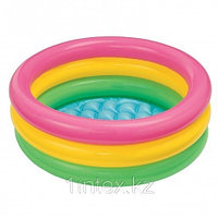 Надувной бассейн Intex 3 кольца с надувным дном 61х22 см, фото 1