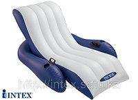 Пляжный надувной шезлонг Intex  (180х135см.), фото 1