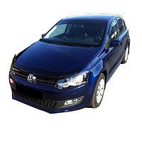 Мухобойка (дефлектор капота) на Volkswagen Polo/Фольксваген Поло 2009-, фото 1
