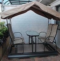 Беседка-качеля со столом