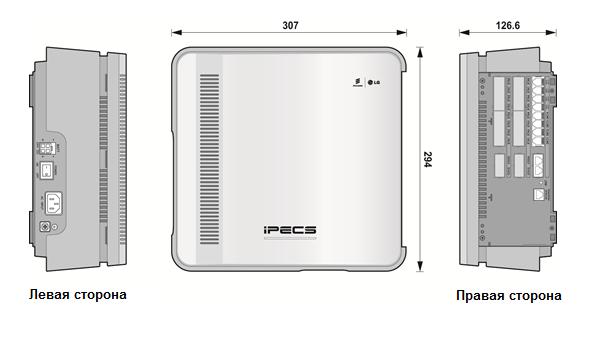 Внешний вид корзины расширения IP АТС eMG80
