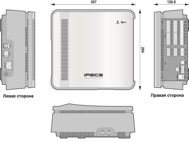 Базовая корзина IP АТС eMG80 BKSU ― внешний вид