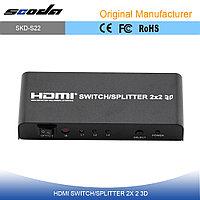 HDMI 2х2 switcher/splitter (сплиттер, переключатель, свитчер), фото 1